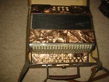 very nice Hohner Liliput button accordion WWII Tornisteraccordeon B/Eb +case!