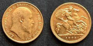 Australia King Edward VII 1908S Sydney Half Sovereign, Getting Scarce