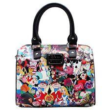 "NEW LOUNGEFLY X Disney Multi ""ALICE CHARACTERS"" Duffle Satchel Handbag -SALE"