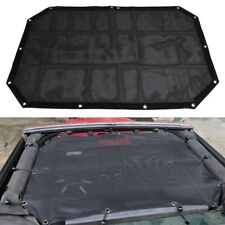 Roof Mesh Sunshade Top Cover UV Protection For 07-17 Jeep Wrangler JK JKU USA