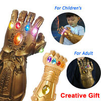 Thanos Infinity Gauntlet LED Glowing Glove Avengers War Prop Cosplay Halloween