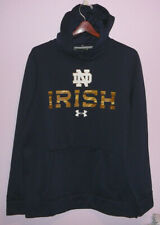 NEW Under Armour Notre Dame Irish Hoodie Sweatshirt Blue M