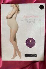 Ingrid & Isabel Maternity Sheer Nylon Hosiery Pantyhose Sz 1 black Small S