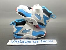 Nike Air Diamond Turf White Teal Blue Crimson Deion Sanders Toddler 2014 sz 4C