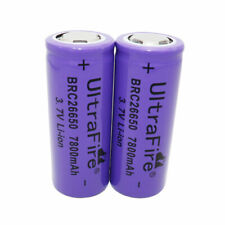 2X 26650 Battery 7800mAh 3.7V Li-ion Rechargeable Batteries for Flashlight Torch