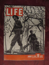 LIFE January 12 1942 WWII Pacific Coast Defense Russia Rockefeller Center