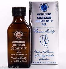 PREMIUM QUALITY, SIBERIAN CEDAR NUT OIL WITH CEDAR RESIN 20% - 3,5oz / 100ml.
