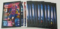 2019/20 Match Attax UEFA Soccer Cards - Lot of 20 cards incl Messi + 2 shiny