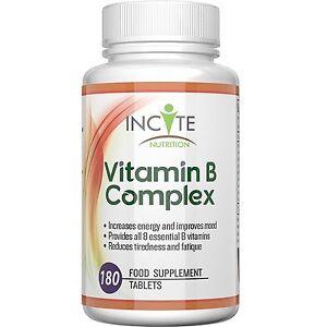 A Vitamin B Complex All 8 B Vitamins High Strength 180 Tablets