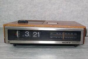 Vintage Sony Digimatic ICF-C670W AM/FM Flip Clock Radio Tested Works