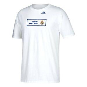 "Real Madrid F.C. La Liga Adidas ""Scoreboard"" Box  Men's White T-Shirt"