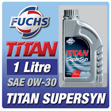 FUCHS TITAN SUPERSYN 1 LITRE 0W-30 ENGINE OIL CAR ULTRA HIGH PERFORMANCE OIL