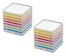 700 Bl. Folia Notizbox glasklar ca 9,5x9,5x9,5cm Papier: weiß // bunt