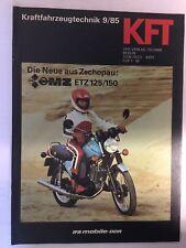 Kraftfahrzeugtechnik KFT 09/1985 MZ ETZ 125/150 DDR Moped Motorrad Alt Geschenk