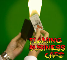 FLAMING BUSINESS CARD FROM WALLET Leather Craft Case Magic Trick Fire Hot On