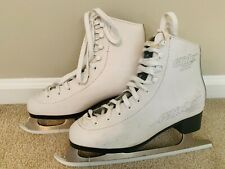 Lake Placid Glider 4000 Women's Size 6 White Ice Figure Skates with Blade Covers