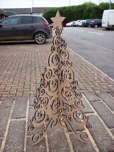 3D Scroll Christmas Tree - 200 x 130 x 2mm