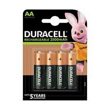 Duracell Rechargeable Batteries AA 2500mAh - 4 Pack - Fast Free Delivery