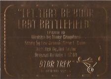 Star Trek TOS Season 3 - G70 'Gold Plaque' Chase Card
