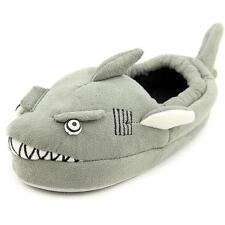 Stride Rite Toddler Boy's Grey Shark Slippers  Glow in dark EYES  Sz Small