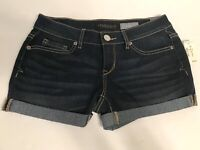 AEROPOSTALE New Shorts Cuffed Midi Blue Denim Jeans Dark Wash Size 0