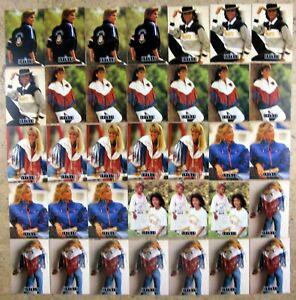 1991 Pro Line Portraits Wives Joe Montana, Elway, 3 sets plus extras 35ct Lot