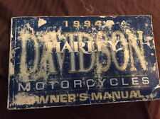 1994 Harley-Davidson HD Owners Manual Motorcycle USA FXR FXDL FXDS FLSTC