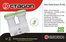 Octágono flex alimentación LNB Monoblock 4K/3D/HD 0.1dB con un 4 - 15 grados de separación