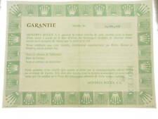 Rolex certificate serial number 4.291.341 genuine garanzia certificato originale