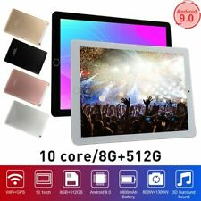 Newest 10.1'' Android 9.0 Game Tablet Computer 8G+ 512G 10 Core Wifi Camera Gift