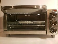 Black + Decker Natural 4-Slice Toaster Countertop Convection Oven New (Open Box)