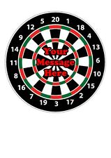 "Darts Board Edible Decor Icing Sheet PERSONALISED 7-8"" Circle Cake Topper"