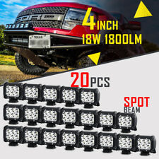 "20pcs 4"" INCH 18W CREE LED WORK LIGHT BAR SPOT ATV Off-Road Fog Driving JEEP SUV"
