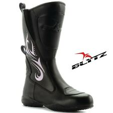 Blytz Ladies Leather Waterproof Motorbike Motorcycle Womens Bike Boots Size UK 4