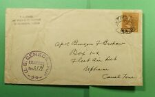 DR WHO ST PETERSBURG FL PREXIE TO CANAL ZONE WWII CENSORED  f52531