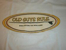 OLD GUYS RULE SINCE BEFORE YOU WERE BORN SURFBOARD FIN LONGBOARD S/S SIZE XL