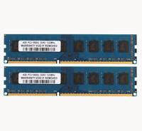 8GB 2X 4GB PC3-10600U DDR3 1333MHz 240PIN Desktop DIMM Memory Intel RAM Non-ECC