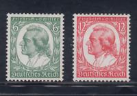 ALEMANIA (1934) MLH NUEVOS CON FIJASELLOS - YVERT 522/23 - SERIE COMPLETA