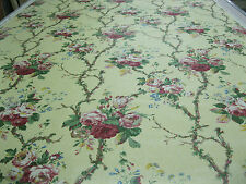 Lee Jofa Fabrics Pattern Milford Rose 5.48 Yd x 53 In Vintage Polished Cotton