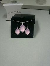 Avon Delicate Shine Necklace and Earring Gift Set Purple