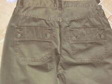 WOMENS DIESEL BROWN BRONZE CAPRI PANTS bottoms slacks SZ 27 NEW