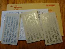 "Champ Decal HO #X-20 Numbers (Aluminum) 9/64"""