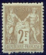 FRANCE #108 Mint - 1900 2fr Brown on Azure