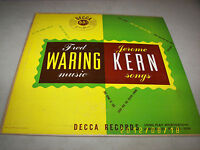 "Fred Waring & Pennsylvanians Jerome Kern Songs LP 10"" VG+ Decca DL5004 1949"