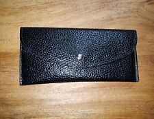 SOUTH MOON UNDER  BLACK WOMENS FAUX LEATHER SNAP CLOSURE ENVELOPE WALLET