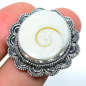 Chakra Shell 925 Sterling Silver Bali Ring s.8 F2564
