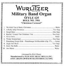 Wurlitzer Style 125 Band Organ Music Roll. Roll No. 3901 Christmas Carousel Tun