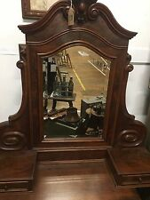 French Vintage Dressing Table Top Mirror with Drawers