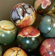"Multicolor Natural 10MM Picasso jasper gemstone round loose beads 15"" JL0710"