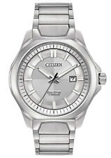 Citizen AW1540-88A Men's Eco Drive Super Titanium Silver Dial Analog Watch